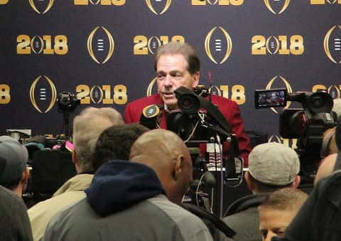 University of Alabama football coach Nick Saban announces new housing foundation.