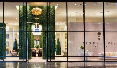 The Front Area Of Janus Et Cie Showroom, A Shop That Sells Elegant Pieces Of