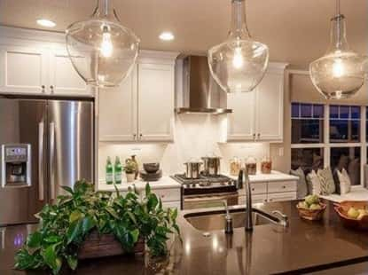 new home lighting. a simple kitchen nicely decorated in vineyard design complete with potted plant new home lighting source