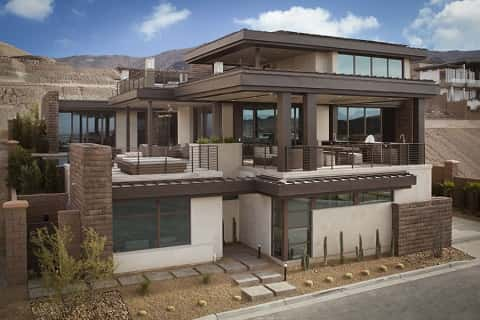 The outside view of an entire house inspired by the upcoming new design, as per the American standards.