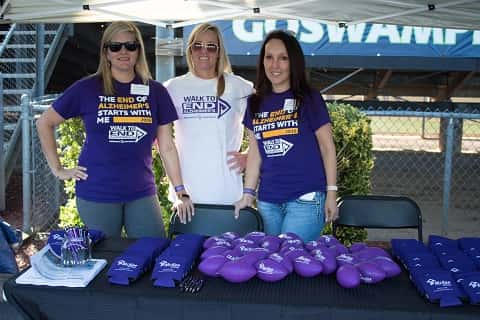 McKee Homes employees help out at 2016 Walk To End Alzheimer's in Fayetteville, AR. Photo courtesy of McKee Homes / Anne Johnson