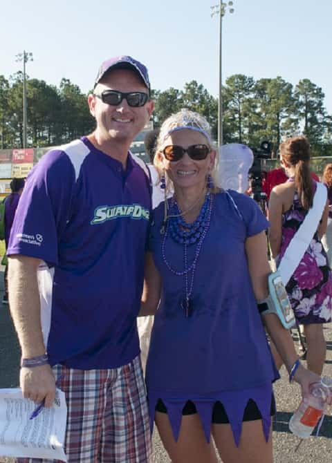Pat McKee and Julie Russo at McKee Homes' 2016 Walk To End Alzheimer's in Fayetteville, AR. Photo courtesy of McKee Homes.
