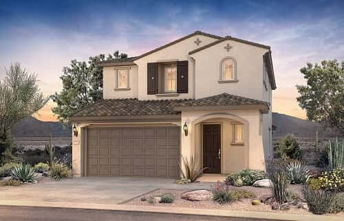 Exterior of Saffron floor plan by Pulte Homes in Mesa, AZ. Photo courtesy of PulteGroup Arizona.