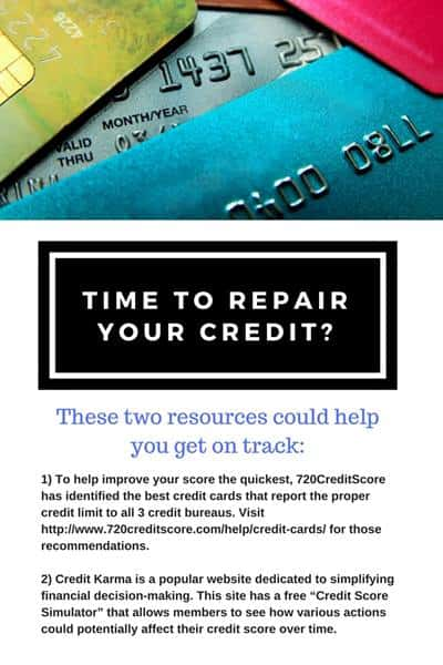 Infographic with tips on repairing credit