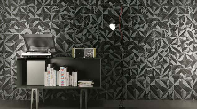Wallpaper-inspired tile can fit modern decor schemes, too. Photo courtesy of 41zero42/Ceramics of Italy member company.