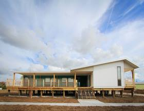 The Make It Right foundation builds LEED Platinum certified homes for people in need, such as this home in New Orleans.