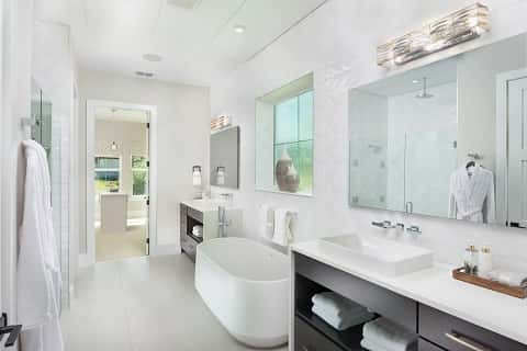 Master bathroom in the ReNEWable Living Home
