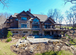 Rear exterior image of a custom home from Regency Builders