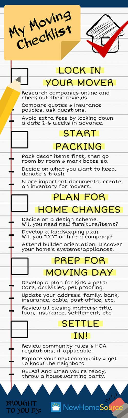 Moving Checklist for FirstTime Homebuyer – Moving Checklist