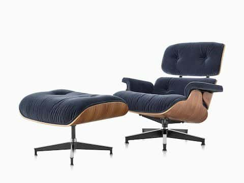 Made Of Leather And Molded Plywood The Eames Lounge Chair By Herman Miller Furniture A True Mid Century