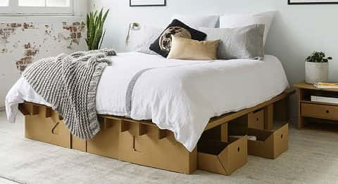 karton cardboard furniture. A Bedframe And Set Of Under-bed Drawers By Karton Is Made Cardboard Karton Furniture