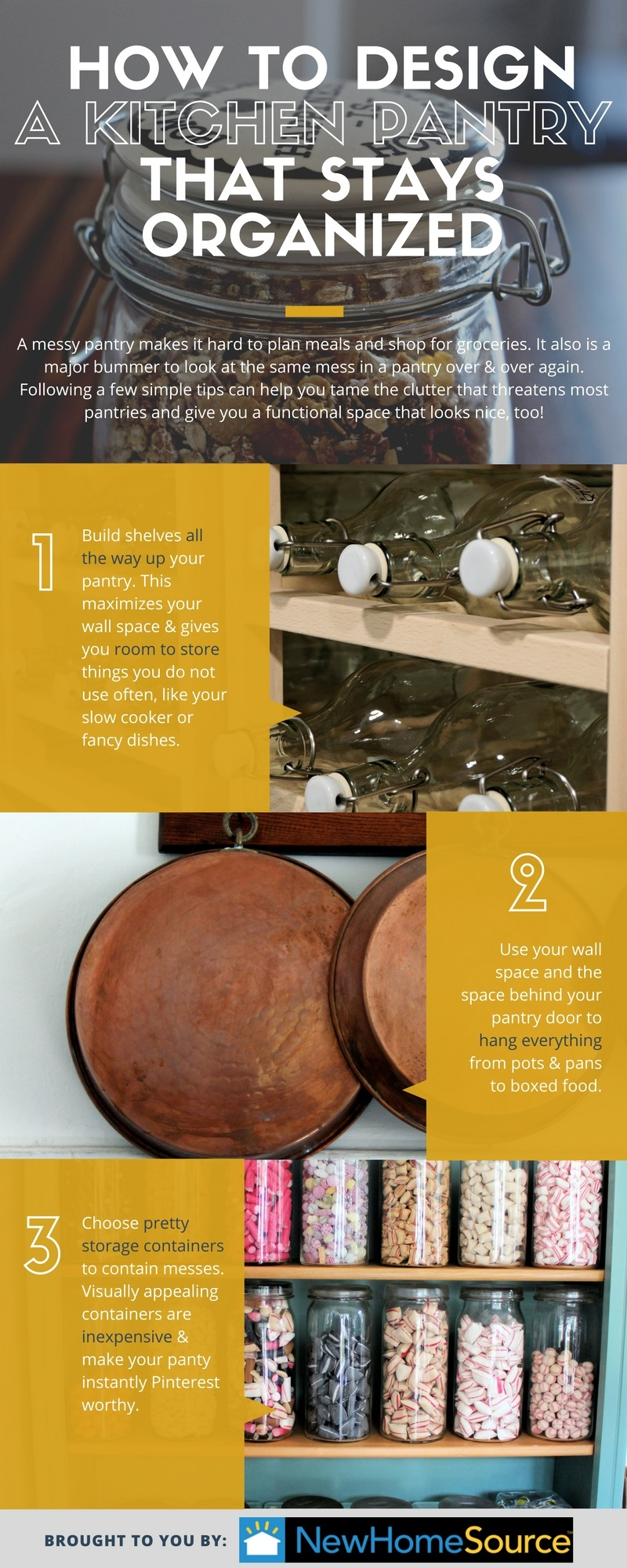 Tips to Design an Organized Kitchen Pantry infographic
