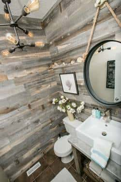 Wood paneling goes contemporary and DIY with Stikwood planks. Photo courtesy of Stikwood.