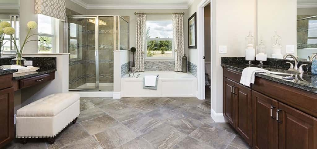 "Parker Plan<br /> Breckenridge; Apopki, Fla.<br /> <br /> 5 bedrooms/3.5 baths<br /> 3-car garage<br /> 4,739 sq. ft. home<br /> 2-story home<br /> <br /> Photo: The master bath of the Parker Plan.<br /> <br /> PHOTO COURTESY OF<br /> Royal Oaks Homes<br /> <br /> <a href=""https://www.newhomesource.com/homedetail/planid-917860"" target=""_blank"">View This Home on NewHomeSource</a>"
