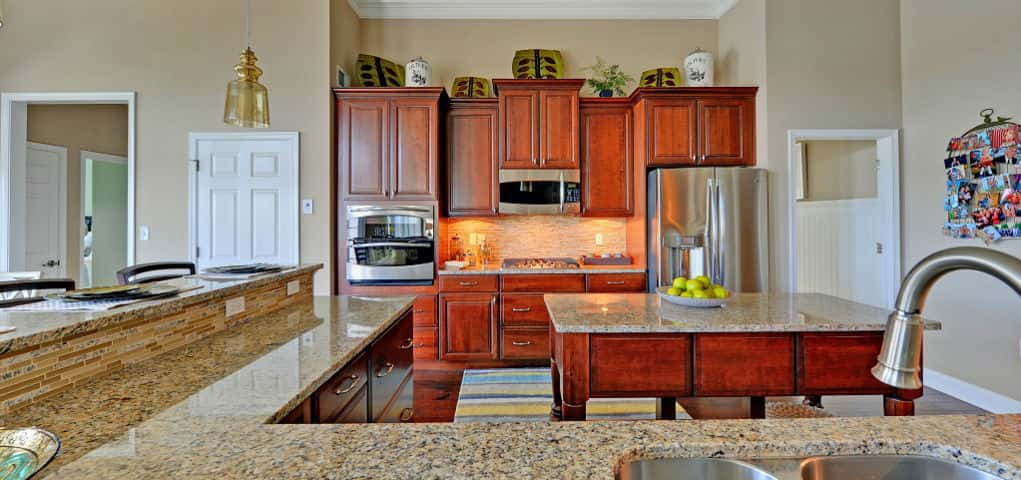 "There's no getting stuck behind a barrage of guests trying to reach your famous guacamole dip in this kitchen. The flow in the Herring Point plan's kitchen makes oh-so-much sense! While a large granite work station sits in the center of the kitchen, an L-shaped granite countertop and eating area keeps guests satiated with snacks and a place to sit. Hosts can continue the conversation from behind the counter and still have plenty of space to work.<br /> <br /> PHOTO COURTESY OF<br /> Schell Brothers<br /> <br /> <a href=""https://www.newhomesource.com/communityresults/market-350/brandid-5528"" target=""_blank"">Schell Brothers in Lewes, Del.</a>"