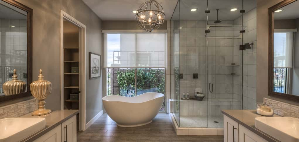 This Bathroom Suite Illustrates The Best Of Modern