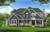 Rendering of Fischer Homes exterior for a home that will be in the BIA of Central Ohio - Parade of Homes