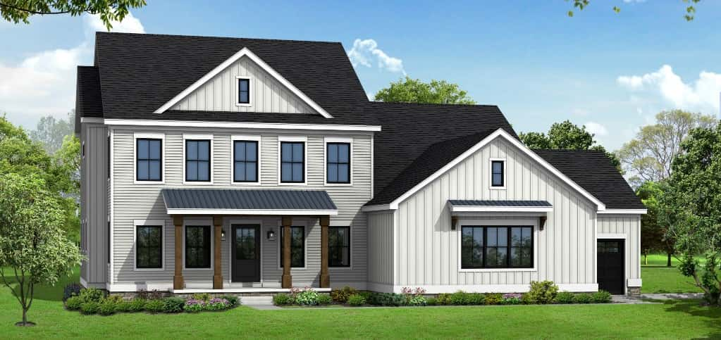 "This elegant home by Manor Homes balances quality design touches with functional, comfortable spaces. You'll notice the attention to detail throughout the home, from an owner's suite featuring a vaulted shiplap ceiling and designer chandeliers to reclaimed wood accents throughout the home.<br /> <br /> ""My favorite part of the parade is the chance to showcase our members' outstanding work. From the subcontractors to the builders themselves, the Parade is a chance for the public to see what great work the members of the Building Association of Central Ohio have to offer,"" says Vargo."