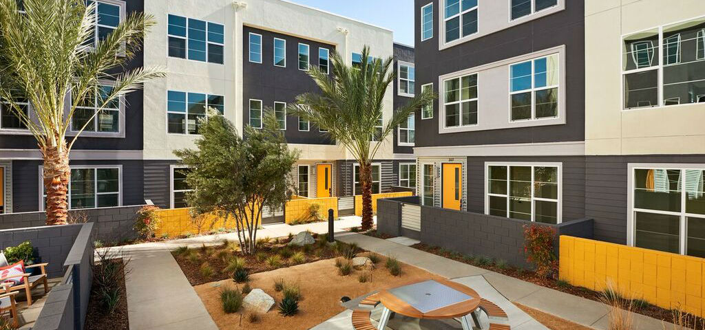 "<p > Costa Mesa West Place<br /> <br /> Costa Mesa, Calif.<br /> <br /> Photo: A beautiful community courtyard is just one of the great amenities at Costa Mesa West Place.<br /> <br /> PHOTO COURTESY OF<br /> City Ventures<br /> <br /> <a href=""https://www.newhomesource.com/communitydetail/builder-11636/community-91192"" target=""_blank"">Learn More About Costa Mesa West Place on New Home Source</a></p>"