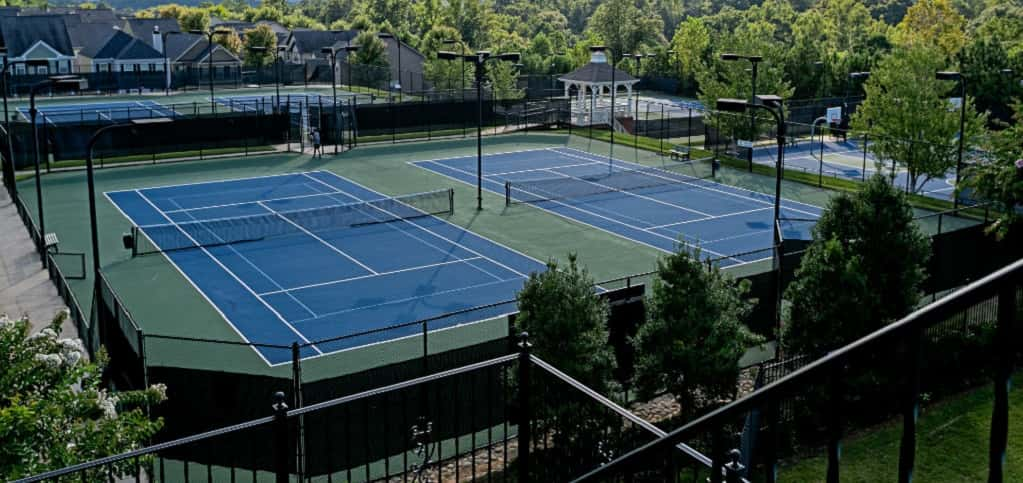 "Water's Edge at River Park<br /> Woodstock, Ga.<br /> <br /> 4 Bedrooms/3 Baths<br /> 2 Garages<br /> 2,508 sq. ft.<br /> 2-Story Home<br /> <br /> Photo: Communities amenities include a clubhouse and tennis courts.<br /> <br /> PHOTO COURTESY OF<br /> Smith Douglas Homes<br /> <br /> <a href=""https://www.newhomesource.com/homedetail/specid-1190917"" target=""_blank"">Learn More About This Home on New Home Source</a>"