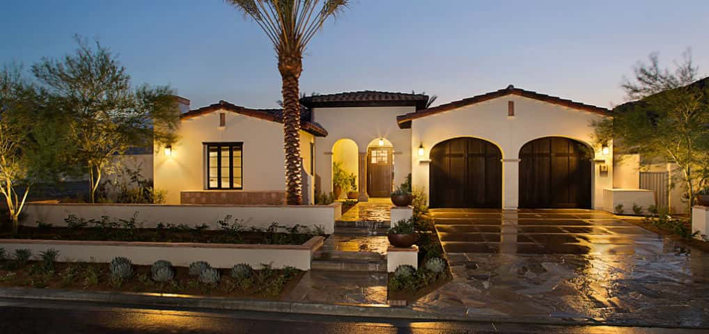 Tuscan-inspired architecture and high desert landscaping join to create a strikingly beautiful home, both inside and out.<br /> <br /> An open and inviting floor plan provides outstanding indoor-outdoor living for residents who want the best that luxury desert living has to offer. All Mirada floor plans include features that are popular among desert residents, such as separate casitas (guest suites with a private entrance).<br /> <br /> PHOTO COURTESY OF<br /> Davidson Communities