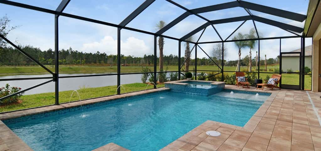 "<p>Martin Ray Plan<br /> Veranda Gardens, Port Saint Lucie, Fla.<br /> 2 bedrooms/2 baths<br /> 2-car garage<br /> 1,968 sq. ft.<br /> 1-story home<br /> <br /> Photo: An optional custom pool in the home's covered lanai.</p> <p> </p> <p>PHOTO COURTESY OF<br /> DiVosta Homes</p> <p> </p> <p><a href=""https://www.newhomesource.com/homedetail/planid-1143485"" target=""_blank"">See More Photos of This Home on New Home Source</a></p>"