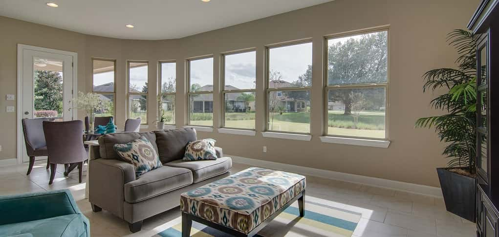 "Magnolia Point<br /> Green Cove Springs, Fla.<br /> <br /> 4 Bedrooms/3 Baths<br /> 3 Garages<br /> 3,047 sq. ft.<br /> 2-story home<br /> <br /> Photo: A fireplace can be added to the sunroom for extra warmth on chilly nights.<br /> <br /> PHOTO COURTESY OF<br /> Drees Homes<a href=""https://www.newhomesource.com/homedetail/planid-1163466"" target=""_blank""><br /> <br /> See More Photos of This Home on New Home Source</a>"