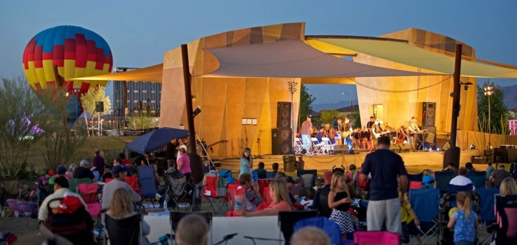"The community holds free community concerts at the event pavilion at its Great Park, often with popular food trucks offering a variety of food for concertgoers.<br /> <br /> ""Our residents have become fond of these convenient opportunities to gather at our event pavilion and enjoy an evening of entertainment with their neighbors,"" Bourgeois says. ""Typically they bring lawn chairs and blankets and the children always dance just in front of the stage.""<br /> <br /> PHOTO COURTESY OF<br /> Eastmark"