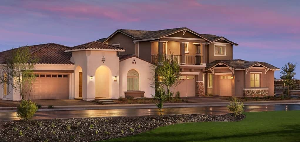 "These handsome exteriors are just two options you'll get to choose from when you purchase a home in Eastmark. With nine builders (and others to come soon) building in the community, there are more than 100 floor plans available to buyers.<br /> <br /> ""Today, single family homes, 55+ active adult neighborhoods and gated neighborhoods"" are available to buyers, Bourgeois says. ""We are planning for future neighborhoods and products that feature townhomes, condos, apartments, custom homes and semi-custom homes.""<br /> <br /> PHOTO COURTESY OF<br /> Eastmark"