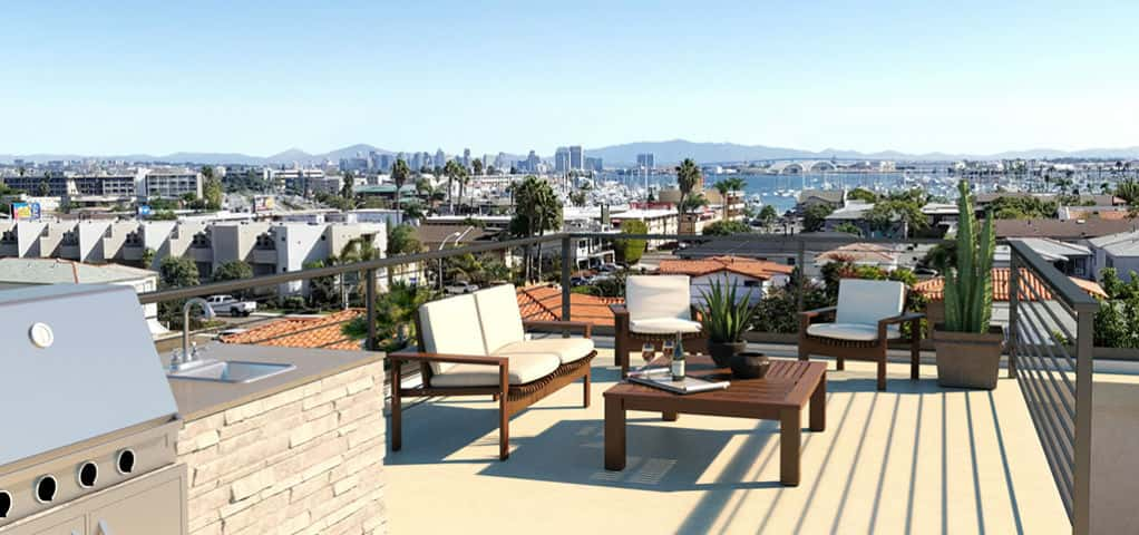 "Emerson Corner<br /> San Diego, Calif.<br /> <br /> Photo: All residences include a private rooftop deck with 360-degree views and an optional outdoor kitchen area with wet bar.<br /> <br /> PHOTO COURTESY OF<br /> Emerson Corner<br /> <br /> <a href=""https://www.newhomesource.com/communitydetail/builder-44574/community-105901"" target=""_blank"">Learn More About This Community On New Home Source</a>"
