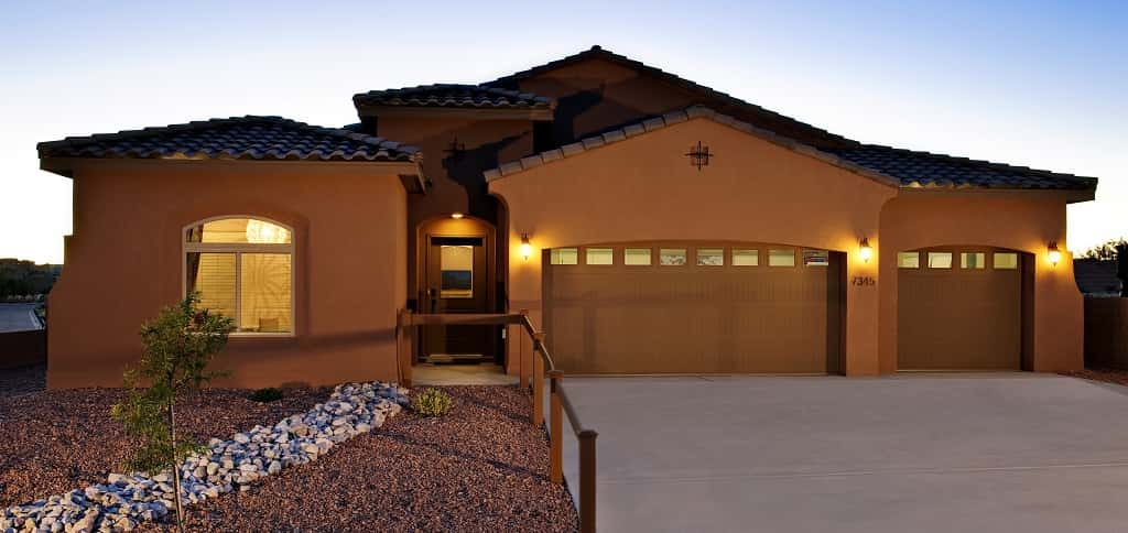 "<p>With three bedrooms and two-and-a-half baths, the Marilyn plan is one of Abrazos Homes' most popular models. ""The Marilyn plan is the best exhibit of all of our plans,"" says Mackenzie Bishop, co-founder of Albuquerque, N.M.-based Abrazos Homes.<br /> <br /> The ranch-style home's exterior exudes the feel of a classic New Mexico adobe home, with a Spanish tile roof adding another dimension of style to the home's exterior. Inside, Bishop says, is a stylish, yet functional home that includes many standard features not found in other homes.</p> <p> </p> <p>PHOTO COURTESY OF<br /> Abrazo Homes</p>"