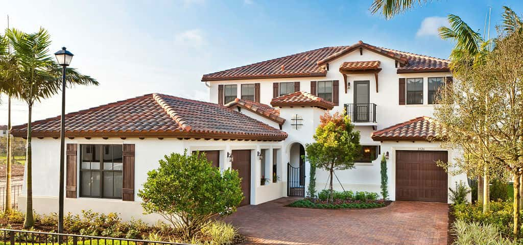 "Each plan has three elevation options: the Santa Barbara, the Florida and the Tuscan.<br /> <br /> ""The Santa Barbara style has graceful arches and exterior details with barrel-style roofs that are reminiscent of the coastal area of California,"" says Chelsea Kimmey, marketing manager for CC Homes. ""The Florida style offers flat-tile roofs with clapboard-style details, typical of the Florida Keys style of architecture. The Tuscan-style elevation has stone trim that speaks of the Tuscan hills of Italy.""<br /> <br /> PHOTO COURTESY OF<br /> CC Homes"