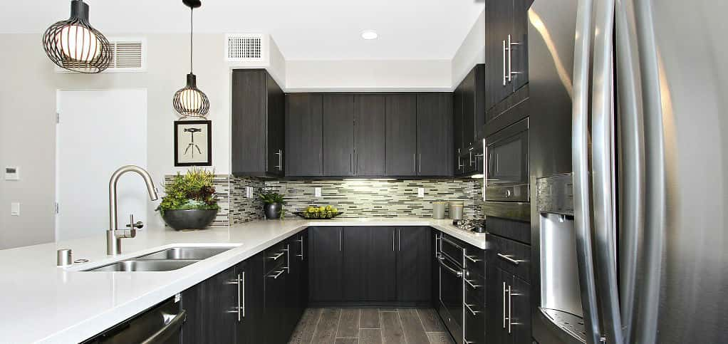 It's easy to eat healthfully – or indulgently – with a gourmet kitchen. Luckily, Panorama kitchens are appointed with great standards, such as Pental slab countertops, stainless steel dual compartment sink, undercabinet fluorescent task lighting, frameless laminate cabinetry with adjustable shelves, concealed hinges and brushed chrome cabinet pulls, Froman says.<br /> <br /> The kitchen also includes a GE Profile stainless steel appliance package.<br /> <br /> PHOTO COURTESY OF<br /> WCH Communities