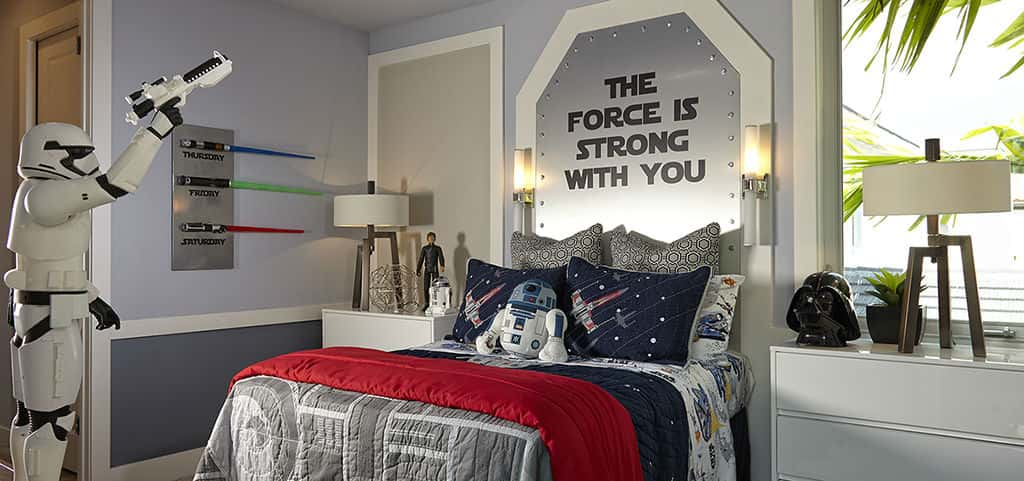 "Whether it be for your kids, guests or extended family in the spare bedrooms, the force of comfort will always be with them as each bedroom suite includes its own bathroom.<br /> <br /> ""Much relaxation in this home you will find,"" adds Yoda.<br /> <br /> PHOTO COURTESY OF<br /> Kolter Homes"