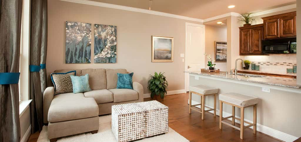 "For those who have aging parents they'd like to live with, a private suite like this one in <a href=""https://www.newhomesource.com/builder/lennar/about/644"" target=""_blank"" title=""See More Homes From Lennar on New Homes Source"">Lennar</a>'s Independence plan is ideal for independent living that can offer peace of mind.<br /> <br /> The space, offered as part of Lennar's <a href=""http://nextgen.lennar.com/"" title=""Learn About Lennar's NextGen — The Home Within a Home"">NextGen — The Home Within a Home</a> series, is connected to the rest of the four-bedroom home, but has a separate entrance for privacy. In addition, a spacious living space and kitchenette mean ultimate independence for residents.<br /> <br /> PHOTO COURTESY OF<br /> Lennar"