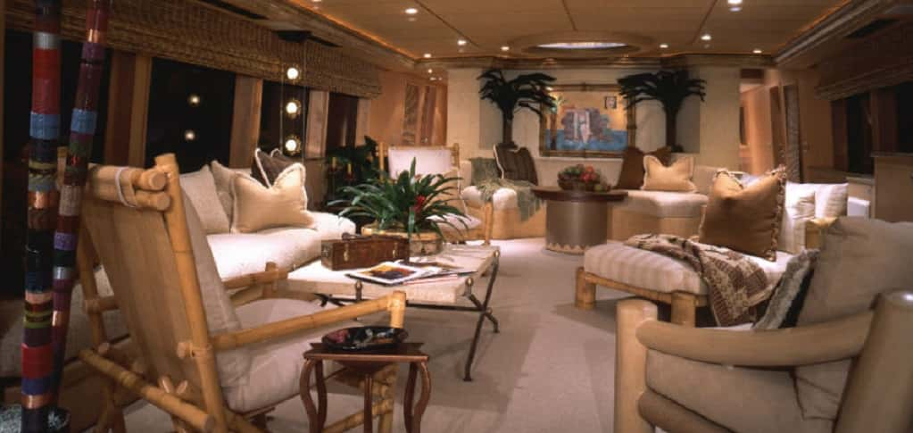 Home of the week abbracci yacht by broward marine and marc for Burowand design