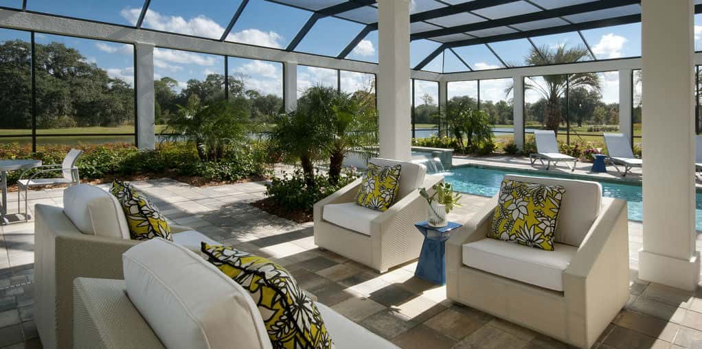 "By <a href=""http://www.newhomesource.com/builder/london-bay-homes/about/7633"" target=""_blank"" title=""Learn more about London Bay Homes"">London Bay Homes</a>, the Isabella Plan at The Founders Club in Sarasota, Fla., has plenty of light, greenery and trendy furnishings to make this space perfect for lounging by the pool.<br /> <br /> Although it may not be considered an outdoor space to some, anyone can enjoy the sun and the fun with the comforts of being indoors.<br /> <br /> PHOTO COURTESY OF<br /> London Bay Homes<br />"