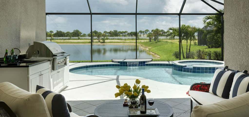 "The Starlight Plan at Sugar Mill Lakes in Palmetto, Fla., by <a href=""http://www.newhomesource.com/builder/neal-communities/about/3960"" target=""_blank"" title=""Learn more about Neal Communities"">Neal Communities</a> provides an incomparable family-friendly atmosphere.<br /> <br /> This plan utilizes a lanai with optional floor-to-ceiling screens, enclosing the pool and outdoor space. This feature allows homeowners to enjoy the outdoors even when the weather is less than ideal. The space also provides plenty of light and extended space to enjoy the pool and other activities.<br /> <br /> PHOTO COURTESY OF<br /> Neal Communities"