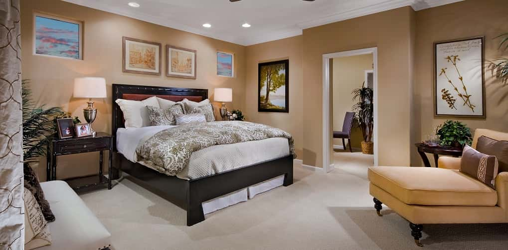 "<p>""The master bedroom is very large in size,"" McCaffrey says. ""It is a private sanctuary for home owners.""<br /> <br /> But, should you ever need more space or a fresh of breath air, right outside the master bedroom is a private outdoor space.</p> <p> </p> <p>PHOTO COURTESY OF<br /> McCaffrey Homes</p>"