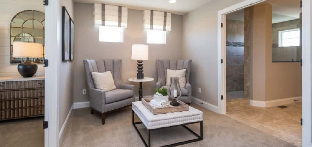 "We're guessing you've added a few things to your resolutions list. Did you include ""relax more""? If you call Pulte Homes' <a href=""https://www.newhomesource.com/homedetail/planid-1156421"" target=""_blank"" title=""See More Photos of the Deer Valley plan"">Deer Valley plan</a> home, then you won't having any problem sticking to that resolution. The plan, which has four bedrooms and three-and-a-half bathrooms, includes a spacious owner's suite with an owner's retreat where homeowners can settle in for the night with a book or hot tea.<br /> <br /> The home is located in Legacy at Barrington in Barrington, Ill., surrounded by 25 acres of woodlands and green space.<br /> <br /> Photo Courtesy of<br /> Pulte Homes"
