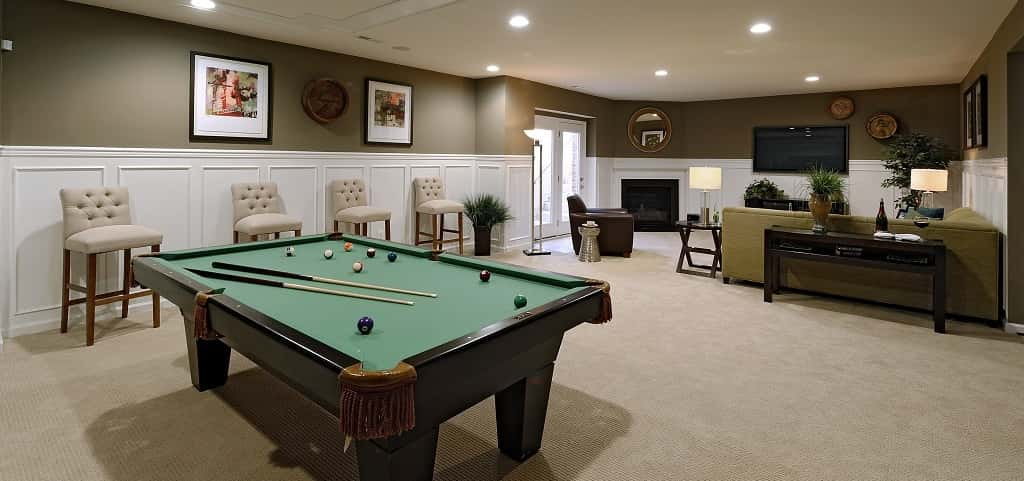 "Any finished basement can become a pleasant space for residents. This lower-level basement can have a separate entrance for true multigenerational living.<br /> <br /> Far from a glorified rec room, this space in the <a href=""https://www.newhomesource.com/resourcecenter/slideshows/home-of-the-week-portsmouth-plan-by-van-metre-homes"" target=""_blank"" title=""Check Out Home of the Week: Portsmouth Plan by Van Metre Homes"">Portsmouth plan by Van Metre Homes</a> can include living and entertaining space, as well as bedroom and full bath. The beauty of this five-bedroom home is its flexibility to match the homeowners' needs — the mark of any true multigenerational home.<br /> <br /> PHOTO COURTESY OF<br /> Van Metre Homes"