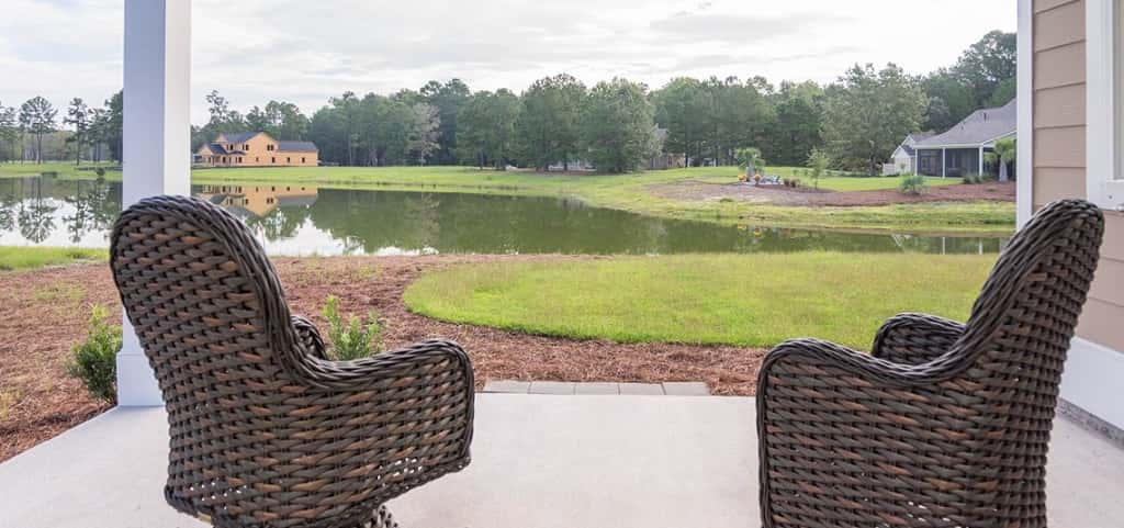 "<p>Okatee Plan<br /> May River Preserve; Bluffton, S.C.<br /> 3 bedrooms/2.5 baths<br /> One-car garage<br /> 2,929 sq. ft.<br /> Photo: The Okatee's back porch has great riverside views.</p> <p> </p> <p>PHOTO COURTESY OF<br /> Village Park Homes</p> <p> </p> <p><a href=""https://www.newhomesource.com/plandetail/504-jetfire-rd-bluffton-bluffton-sc-29910/1332012"" target=""_blank"">View More Photos on NewHomeSource</a></p>"