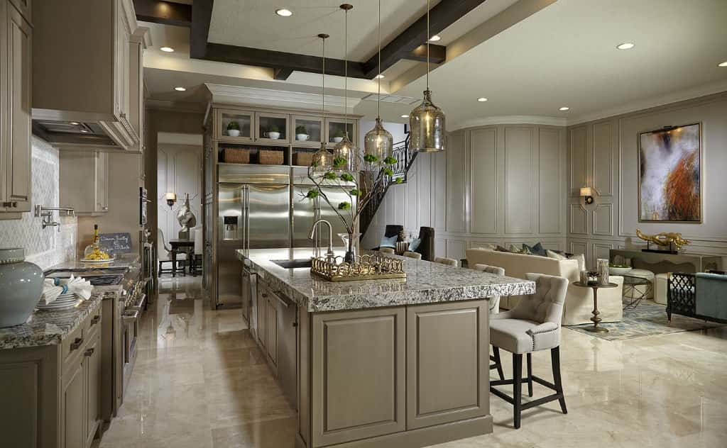 Two refrigerators sit side by side in the Edge D Plan by Kolter Homes at the Alton community in Palm Beach Garden, Fla.