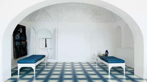 An example of David Rockwell's Bisazza Cementiles collection, Tonal, which incorporates a lot of colored tile. Photo courtesy of rockwellgroup.com
