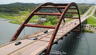 The Pennybacker Bridge above Lake Austin is an iconic Austin structure.