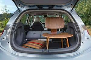 The rear cargo space in the 2017 Chevrolet Bolt can carry a chair and much more.