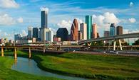 A view of the Houston skyline.