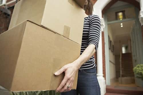 Single woman moving into home