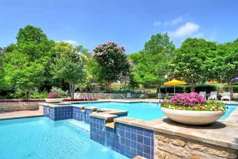 the chateau at onion creek pool has two layers plus waterfalls the manufactured home community - Cool Pools With Waterfalls In Houses