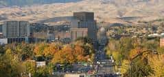 Panoramic view of downtown Boise in the autumn.